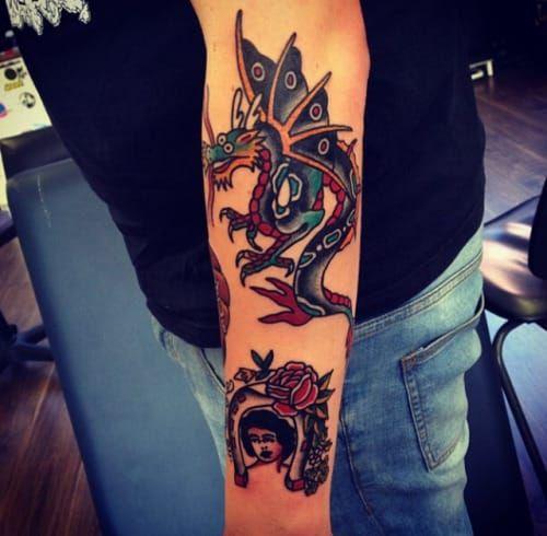 Winged Dragon Tattoo by Rich Hadley
