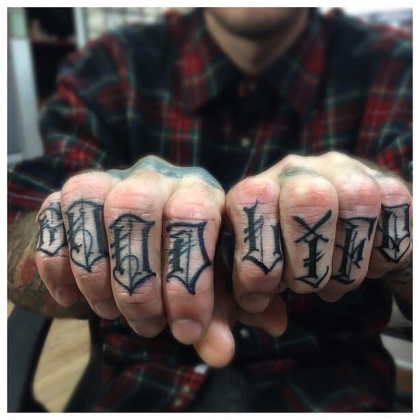 Knuckle Tattoo by BJ Betts