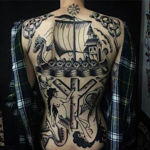Beautiful backpiece by Sway Tattooer and Jemma Jones