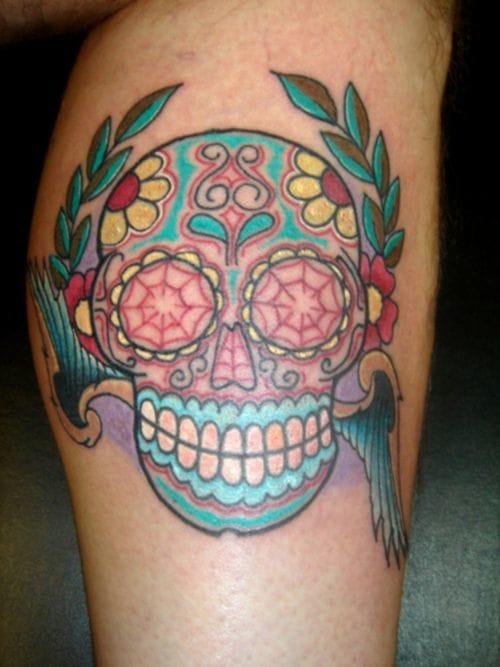 Choosingtattoos.net - Artist unknown #sugarskull #skull