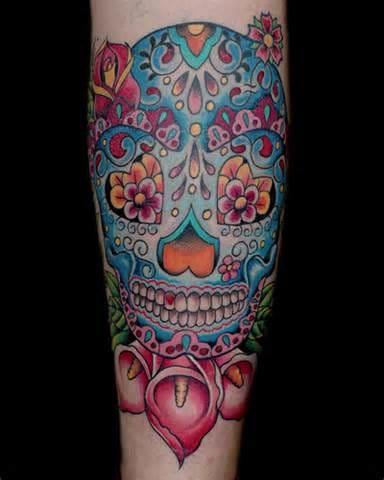 Via skullspiration.com. Artist unknown #sugarskull #skull #flowers
