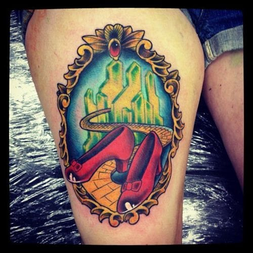 Ruby red slippers tattoo