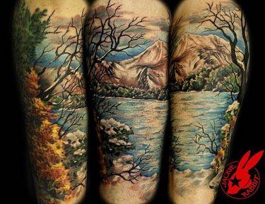 30 Beautiful, Vibrant & Relaxing Nature Tattoos