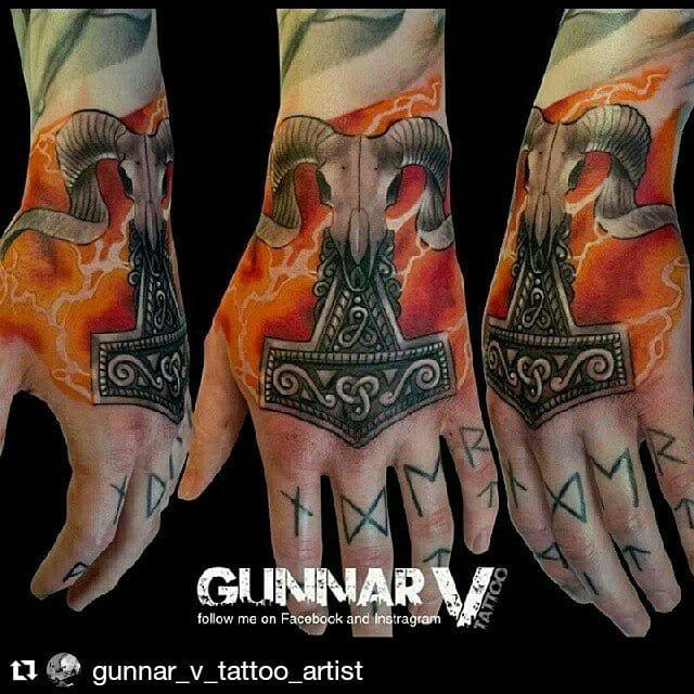 Mjolnir Tattoo by Gunnar V