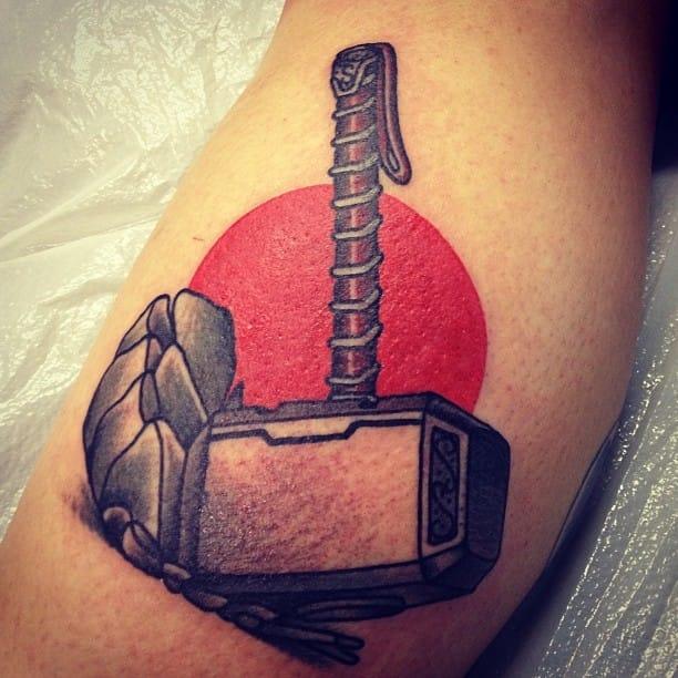 Mjolnir Tattoo by Jake Thorsell