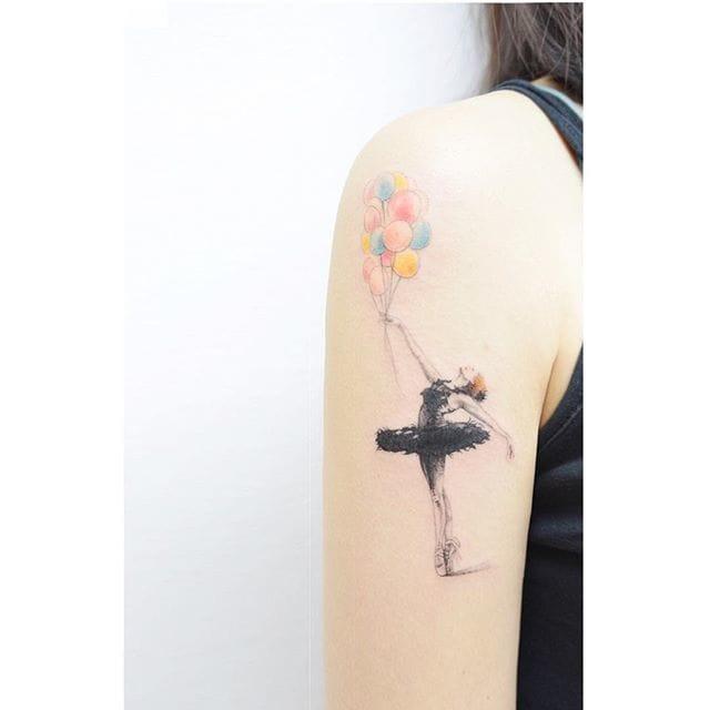 Romantic dancer by.