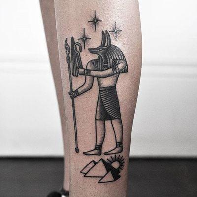 Anubis Tattoo by aimeedoestattoos #aimeedoestattoos #anubis #anubistattoo #egyptiantattoo #egyptian #egypt #deity #god #mythical