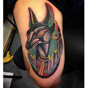 Tattoo by Alejo Barros Lombardi #alejobarroslombardi #anubis #anubistattoo #egyptiantattoo #egyptian #egypt #deity #god #mythical