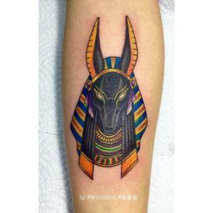 Tattoo by Brio Tattoo #briotattoo #anubis #anubistattoo #egyptiantattoo #egyptian #egypt #deity #god #mythical