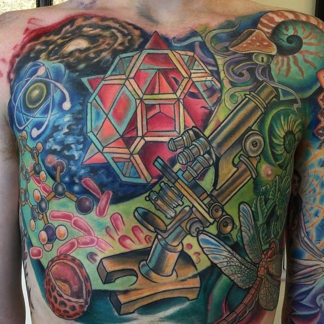 Science-Inspired tattoo by Jamie Santos