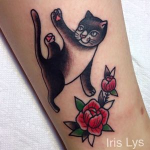 Yoga Cat by Iris Lys
