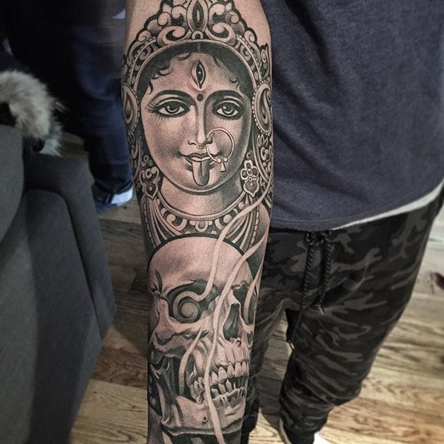 Black and grey tattoo by Lil B. Photos from Lil B.