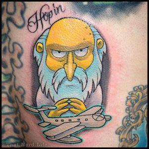 Mr Burns Tattoo by Troy Slack #MrBurns #theSimpsons #TroySlack