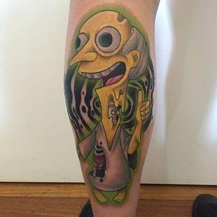 Mr Burns Tattoo by Jack Douglas #MrBurns #theSimpsons #JackDouglas