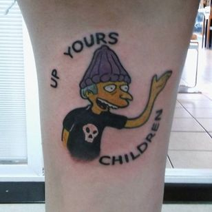 Mr Burns Tattoo by Stormin Norman #MrBurns #theSimpsons #StorminNorman