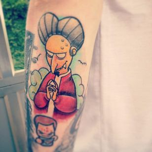 Mr Burns Tattoo by Travis Chambers #MrBurns #theSimpsons #TravisChambers