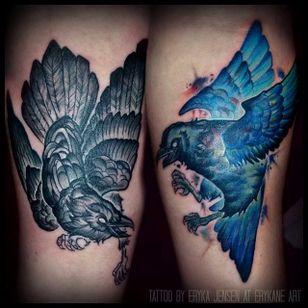 Odins Ravens Tattoo by Eryka Jensen #OdinsRavens #Odin #raven #Norse #ErykaJensen