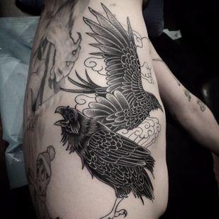 Odins Ravens Tattoo by Vova Bydin #OdinsRavens #Odin #raven #in progress #VovaBydin
