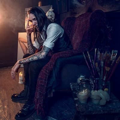 Come to the Darkside with This Incredible Tattooed British Painter