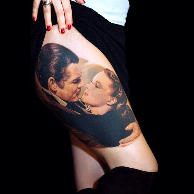 Tattoo inspired by a movie Gone with the Wind by James Tats #inspiration #gonewiththewine #movie #movietattoo #jamestats