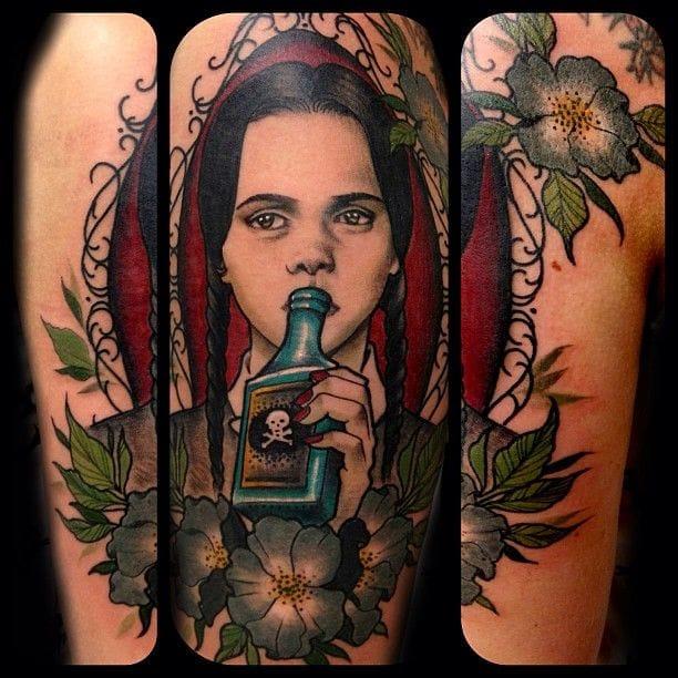 Cool Wednesday tattoo by Sam Smith #movie #movietattoo #samsmith #wednesday