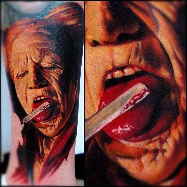 Gory Dracula tattoo by Nikko Hurtado #movie #movietattoo #dracula #NikkoHurtado