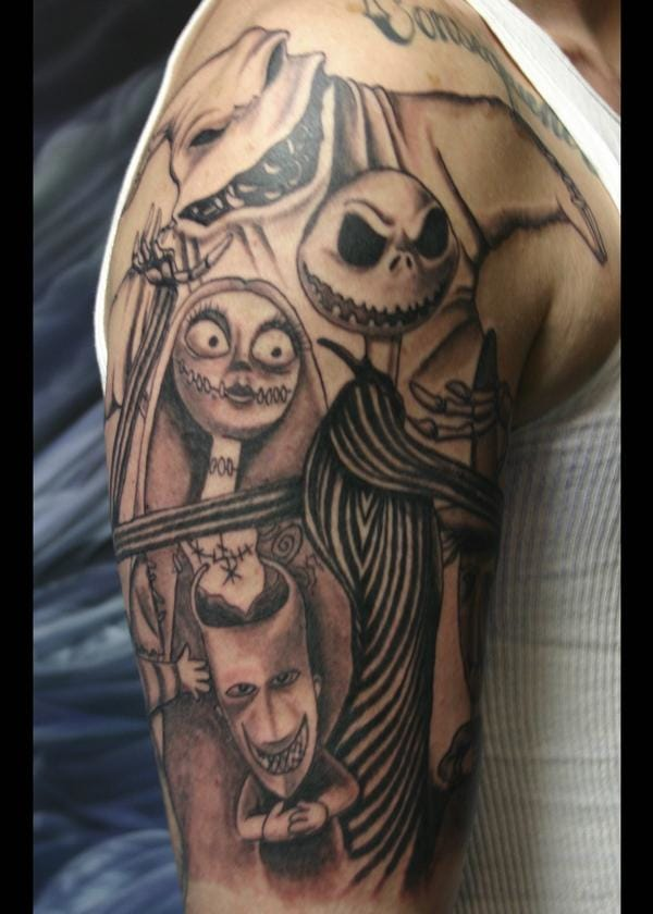 The Nightmare Before Christmas film tattoo, by Jet Tattoo