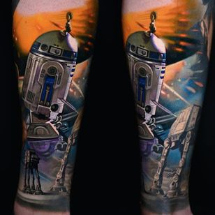 Star Wars tattoo By Nikko Hurtado via @nikkohurtado #NikkoHurtado #starwars #mayfourth #r2d2