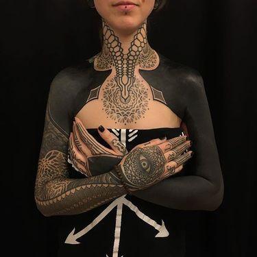 10 Intense Blackwork Tattoos By Gerhard Wiesbeck