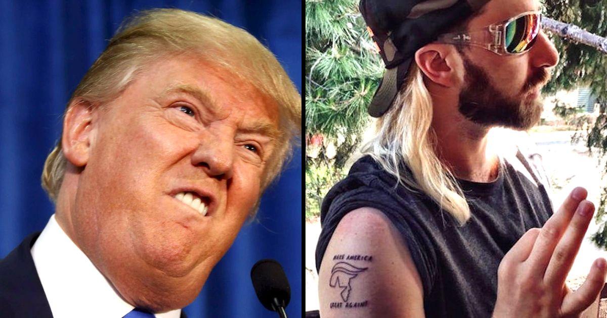 No Love for Buzzfeed Employee's Trump Tattoo