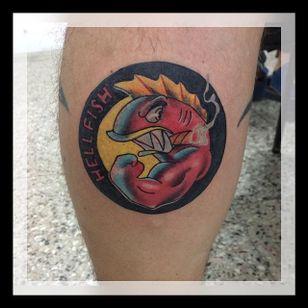 Hellfish Tattoo by Guido Pérez #Hellfish #HellfishTattoo #Simpsons #SimpsonsTattoos #GuidoPerez