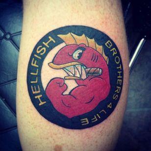 Hellfish Design by Stay True Tattoos #Hellfish #HellfishTattoo #Simpsons #SimpsonsTattoos #StayTrueTattoos