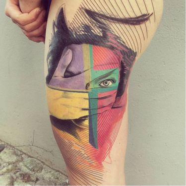 Artistic Graphic Tattoos By Mich Beck