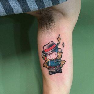 Doraemon tattoo by fb583069054 on Instagram. #doraemon #neko #cat #anime