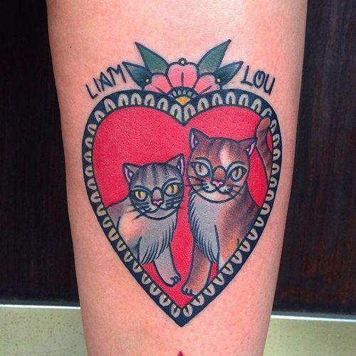 Best Friends <3 by @iris_lys #IrisLys #cat #heart #cattoo #cattooer