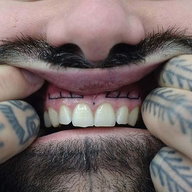 Hand Poked Gum Tattoos That Will Either Gag You Or Amuse You