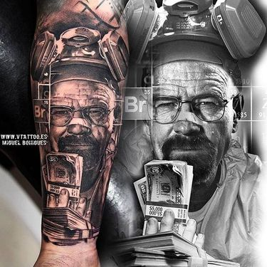 Crazy Black And Grey Tattoos By Miguel Angel Bohigues