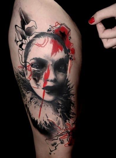 A dark Venus in fur tattoo