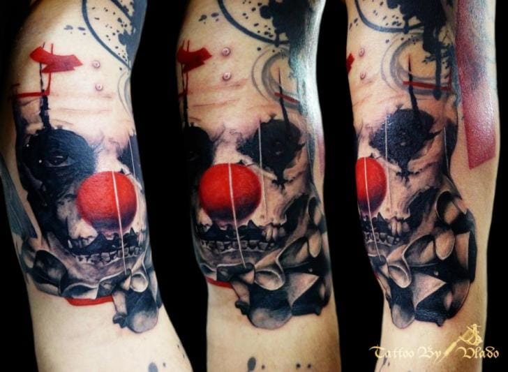 A scary clown, also by Vlado
