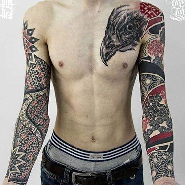 Enticing Ornamental Tattoos by Billy Heil