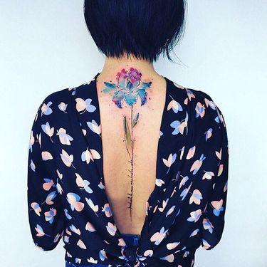 Eye-Catching Iris Flower Tattoos