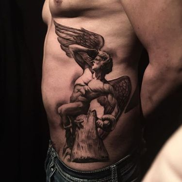 High Contrast Black and Grey Tattoos by Miguel Camarillo