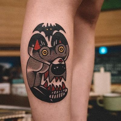 Catwoman tattoo by Woohyun Heo. #WoohyunHeo #doubleface #doubleimage #illusion #feline #cat #catgirl #catlady #catwoman