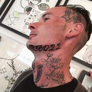 Dope script neck piece #script #lettering #neck #Dicky