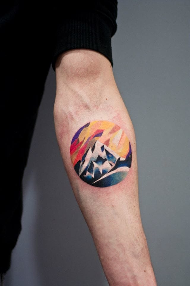 Mountain tattoos that rock? Ask for Martyna Popiel! #mountain landscape #MartynaPopiel