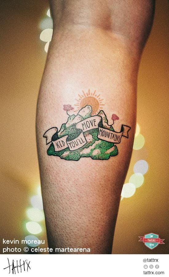 Yes, move them! Motivational mountain tattoo by Kevin Moreau. #mountain landscape #motivational #KevinMoreau