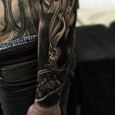 Black and Grey Realism Tattoos by JP Alfonso
