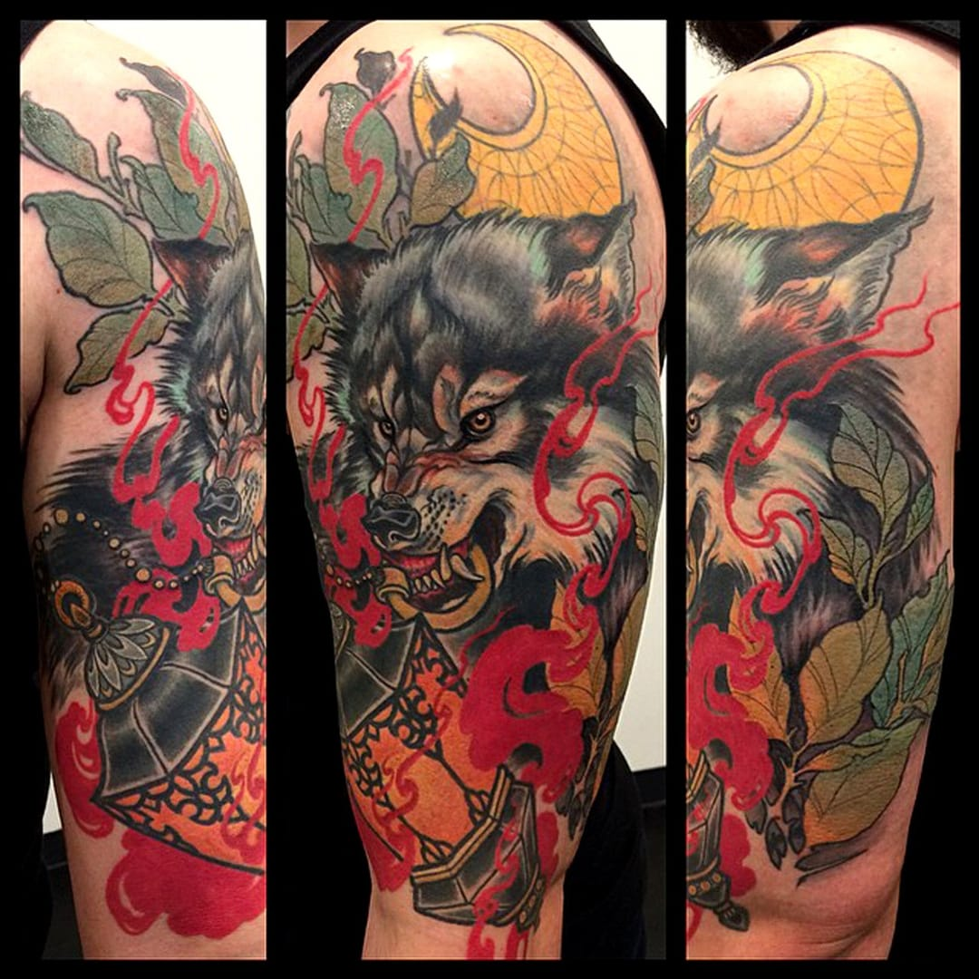 Wolf tattoo by Teniele Sadd #wolf #wolftattoo #tenielesadd
