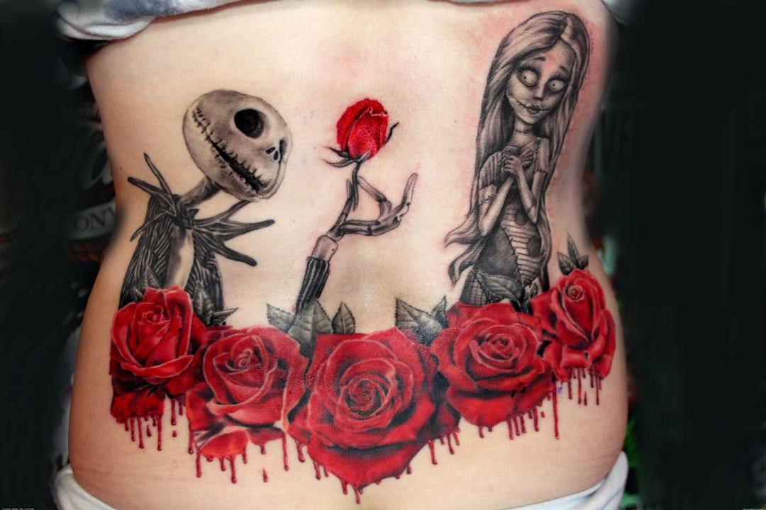 The Nightmare Before Christmas film tattoos, by Mirek vel Stotker