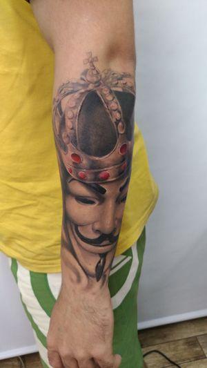 #vendetta #blackandgrey #blackandgreytattoo #tattoo2me #tattooart #pretoecinza